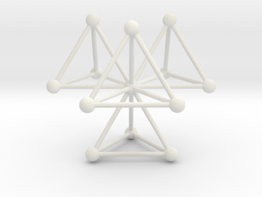Tetrahedra in White Natural Versatile Plastic