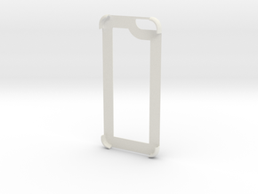 Iphone 6 Edge Cover in White Natural Versatile Plastic