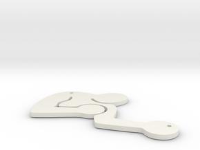 Bukowski Pendant 1.5 inches in White Natural Versatile Plastic