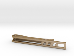 Minimalist Tie Bar - Quad Slash in Polished Gold Steel