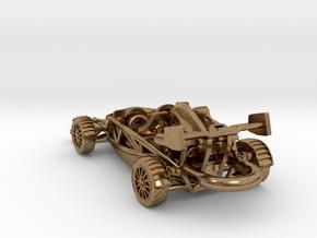 Ariel Atom brass pendant, HO scale LHD w/wings in Natural Brass