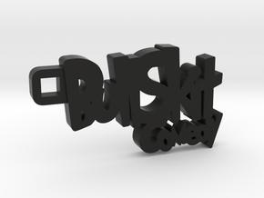 Bull Skit Keychain in Black Strong & Flexible