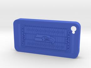iPhone 4 Football SH in Blue Processed Versatile Plastic