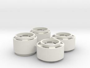 Mini-z F1 Wheelset for BRM rears -2.5mm original o in White Natural Versatile Plastic