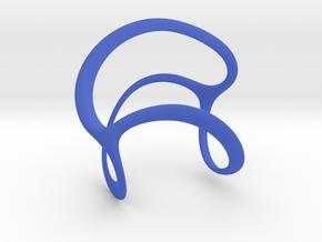 Tri-Spiral in Blue Processed Versatile Plastic