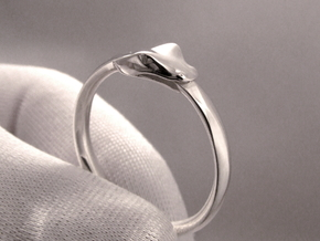 Ouroboros Ring in Polished Silver: 8.5 / 58