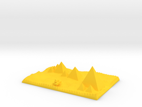 traditional view Pyramids Of Giza And Sphinx Model in Yellow Strong & Flexible Polished