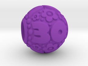 'Pandora' fit Charm 30th in Purple Processed Versatile Plastic