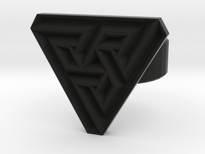 100321 triangle angle ring in Black Natural Versatile Plastic
