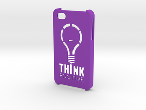 iPhone 4s Hard Case - Think Positive in Purple Strong & Flexible Polished