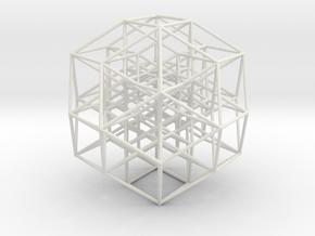 Hypercube6D v1 in White Natural Versatile Plastic