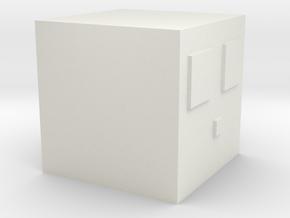 Minecraft Slime Large in White Natural Versatile Plastic