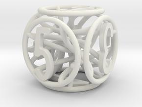 Dice wire in White Natural Versatile Plastic
