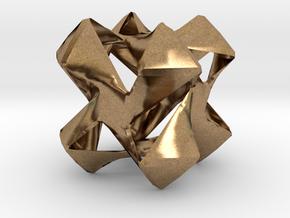 Pinwheel 2 in Natural Brass