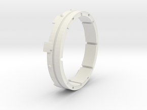 Iron Man mk III - Arm ring (left or right) in White Natural Versatile Plastic