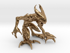 """2.5"""" Small Croutching Fire Sprite in Natural Brass"""