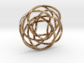 Torus Knot Pendant 1/17/7/12 in Polished Brass