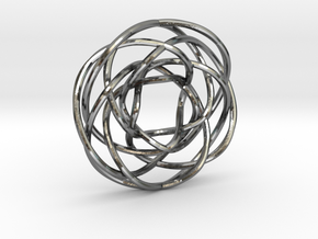 Torus Knot Pendant 1/17/7/12 in Polished Silver