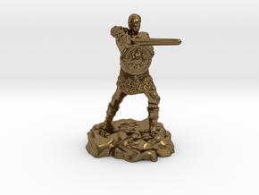 Varis, the Half Elf Fighter Spy in Natural Bronze