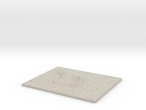 Model of Hi'i Flats in Sandstone