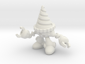 Drill-bot in White Natural Versatile Plastic