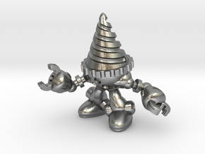 Drill-bot in Natural Silver
