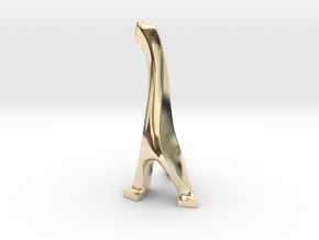 Sclupture of The Creature 001 in 14K Yellow Gold