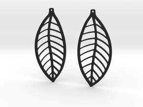 LEAF Earrings in Black Natural Versatile Plastic