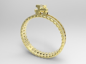 Train Nr1 Ring in 18k Gold Plated Brass: 7 / 54