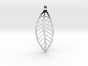 LEAF Necklace in Platinum