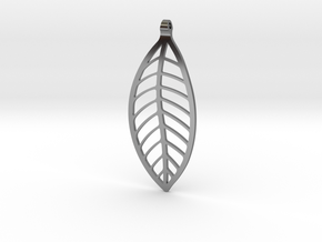 LEAF Necklace in Fine Detail Polished Silver