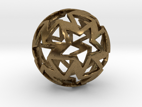 12-star ball in Natural Bronze