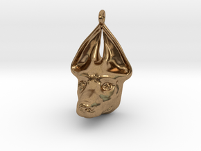 Egyptian Dog Pendant in Natural Brass