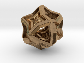 Polyhedron 1 in Natural Brass
