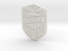 Jara Badge Custom in White Natural Versatile Plastic
