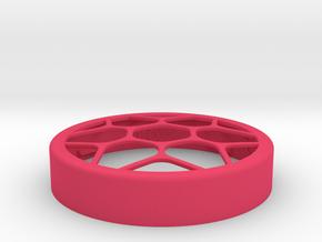Flower Vase cap for jar size:58 (4 leads) in Pink Processed Versatile Plastic