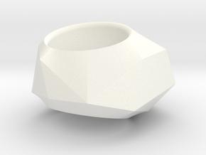 """ROCK""_Women ring in White Processed Versatile Plastic"