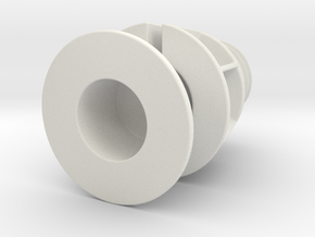 Mouse Cord Holder in White Natural Versatile Plastic