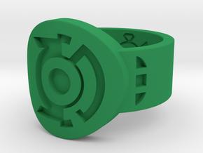 Green & Blue Lantern Hal Jordan Ring in Green Processed Versatile Plastic