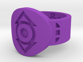 Indigo Tribe FF Ring (Sz's 5-15) in Purple Processed Versatile Plastic