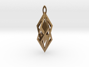 Hanging Crystal Pendent in Natural Brass