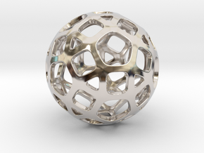 DodecaBall Pendant in Platinum