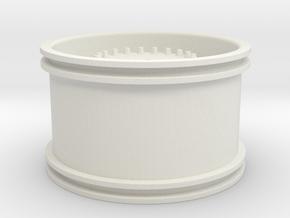 Wheelloader Rim in White Natural Versatile Plastic