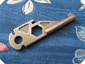 Right Handcuff Key (SOG S44/PPP Multitools) in Polished Bronzed Silver Steel