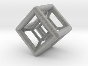 Hypercube Pendant in Metallic Plastic