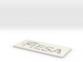 MESA Logo Stencil Medium in White Strong & Flexible