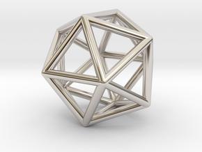 Icosahedron Pendant in Platinum