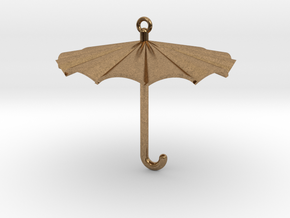 Umbrella Charm in Natural Brass