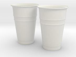 Plastic Cups in White Natural Versatile Plastic