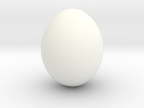Shiny Cow Bird Egg - smooth in White Processed Versatile Plastic